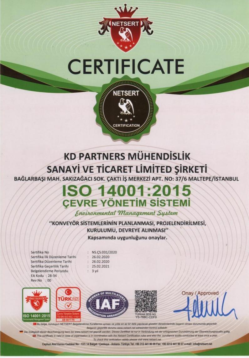 ISO 14001 2015 Cevre Yönetim Sistemi Environmental Management System