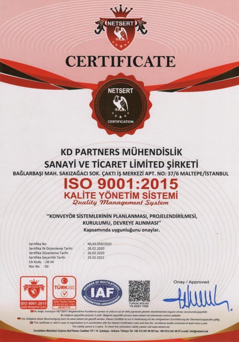 ISO 9001 2015 Kalite Yönetim Sistemi Quality Management System